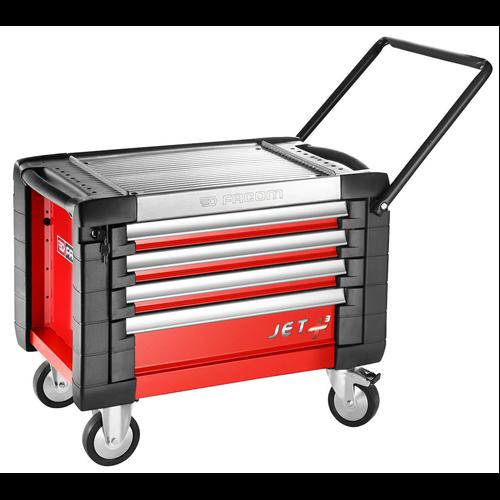 Gurulós 4M3 fiókos szekrény piros új