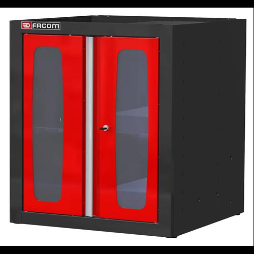 Álló szekrény üveg ajtós 810 mm